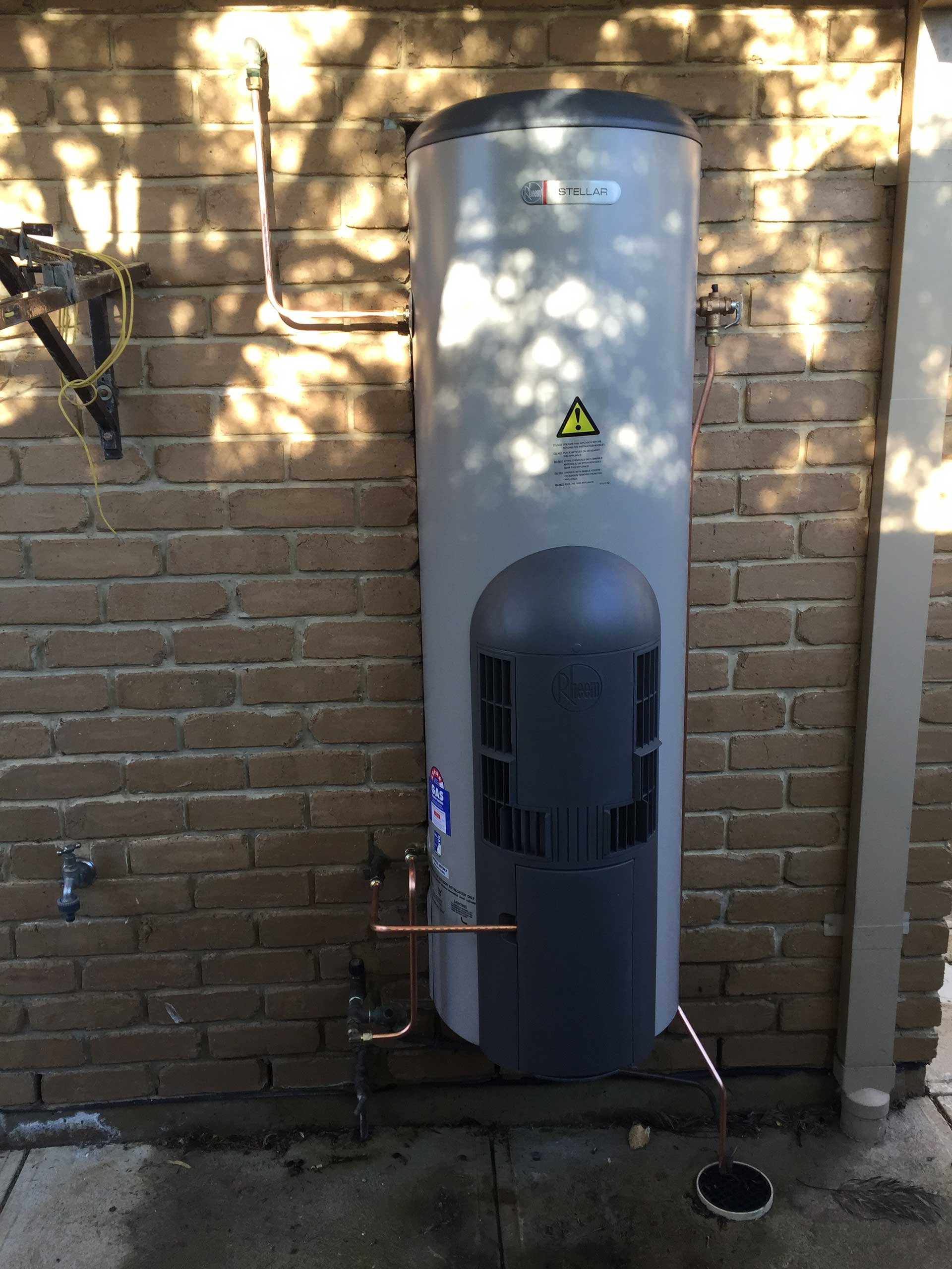 gas hot water installation