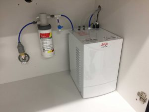 Gas hot water connection
